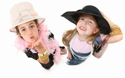 Dress Up Girls Stock Photography