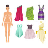 Dress up paper doll Stock Photography