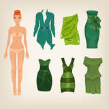 Dress up paper doll Royalty Free Stock Photo