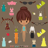 Dress up paper doll Royalty Free Stock Photos