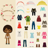 Dress up paper doll with body template Stock Photos