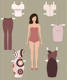 Dress up peper doll Stock Image