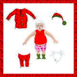 Dress up the santa in pajama Stock Photos