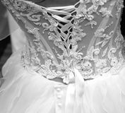 dress wedding 免版税库存照片