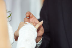 Dress wedding ring Royalty Free Stock Photo