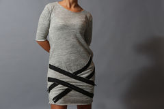 Dress with zippers Stock Photo