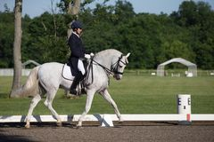Dressage FEI Prix St. Georges Stock Photo