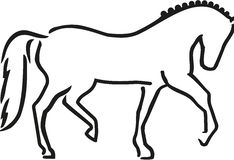 Dressage horse sketch style. Sports vector Stock Images