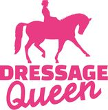 Dressage queen Royalty Free Stock Images