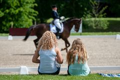 Dressage spectators Royalty Free Stock Image