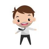Dresscode vestindo de sorriso novo do escritório do gerente Imagens de Stock