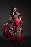 Dresse nacional gitano del flamenco Fotografía de archivo