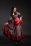 Dresse nazionale zingaresco di flamenco fotografia stock