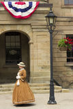 Dressed actor in front of the Province House in Charlottetown Royalty Free Stock Image