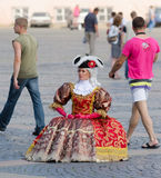 Dressed as 18 century lady, St. Petersburg Stock Photography