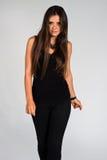 Dressed in black Stock Image