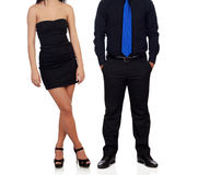 Dressed in black and always stylish Royalty Free Stock Image