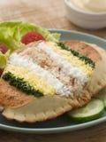 Dressed Cromer Crab with Lemon Mayonnaise Stock Photography