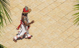 Dressed dancer, Sri Lanka. Top view. Copy space for text Stock Image