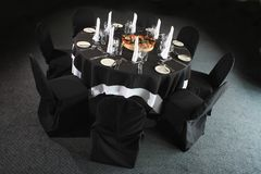 Dressed dining table Royalty Free Stock Photography