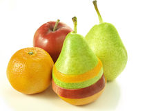 Dressed fruits Stock Photos