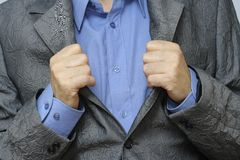 Dressed man stock photography