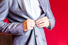 Dressed man Stock Photo