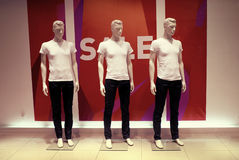 Dressed man mannequins Stock Images