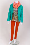 Dressed mannequin with current spring fashion Stock Images