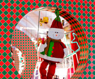 Dressed snow man decoration for Christmas in Delhi Royalty Free Stock Photo