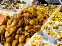 Berenjenas de Almagro eggplant in a stall of a market. Stock Image