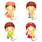 Dressed in the traditional costume of Korea Boys and girls Event Stock Photo