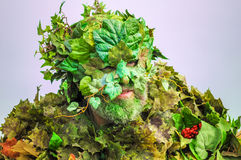 Dressed up as The Green Man to celebrate the arrival of summer in Hastings Royalty Free Stock Photography