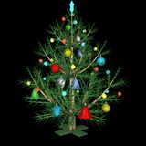 The dressed up New Year's fir-tree Stock Photography