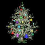 The dressed up New Year's fir-tree Royalty Free Stock Photo