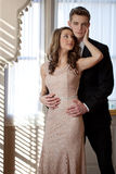Dressed Up Teen Couple Royalty Free Stock Photography