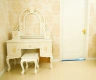 Dresser. Modern dresser in the corner royalty free stock image