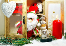 Dresser with ornaments on a Christmas tree Stock Photo