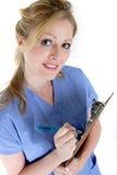 Dresser une carte d'infirmière Photos stock