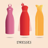 Dresses  on background. Stock Photography