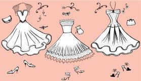 Dresses.Clothes Fotografia Stock