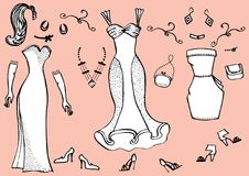 Dresses.Clothes Stock Image