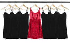 Dresses on clothes racks Royalty Free Stock Photo