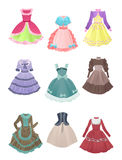 Dresses for cosplay Stock Images