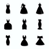 Dresses. Different styles of dresses. Fon or icon Royalty Free Stock Photo