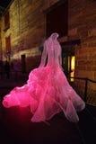 The Dresses fibre optic The Rocks at Vivid Sydney Stock Photo
