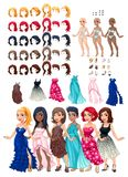 Dresses and hairstyles game Stock Photography