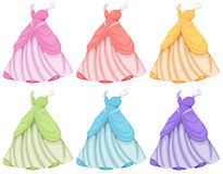 Dresses. Illustration of dresses in different colors Royalty Free Stock Image