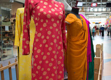 Dresses at international village mall Royalty Free Stock Photography