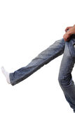 Dresses male jeans Royalty Free Stock Photos
